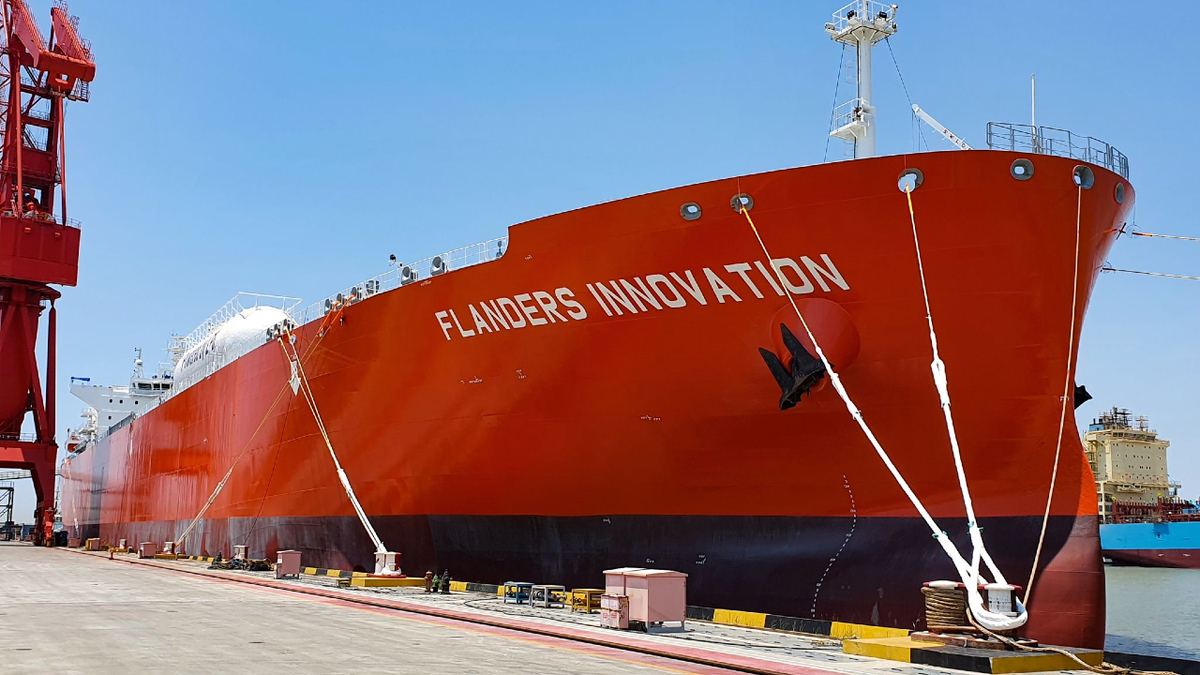 Flanders Innovation is the first LPG-fuelled very large gas carrier (source: Exmar)