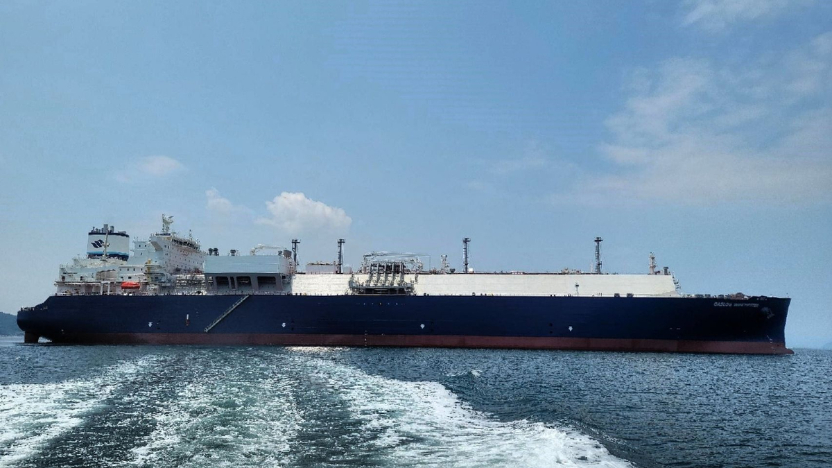GasLog Winchester is the last of four 180,000-m3 LNG carriers in a series from SHI (source: GasLog)