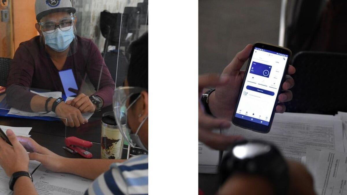 A seafarer wears KaHa digital device and sees results on phone app (source: KaHa)