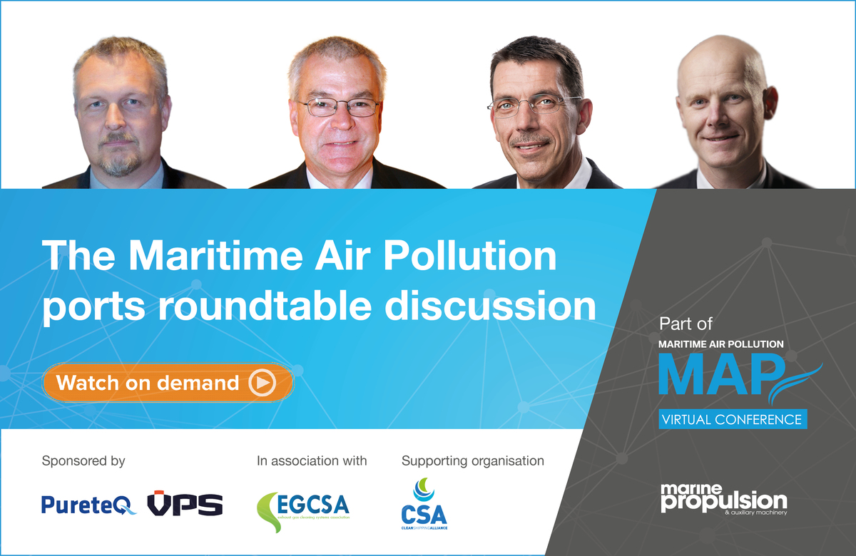 Maritime Air Pollution Ports Roundtable panel on 30 June