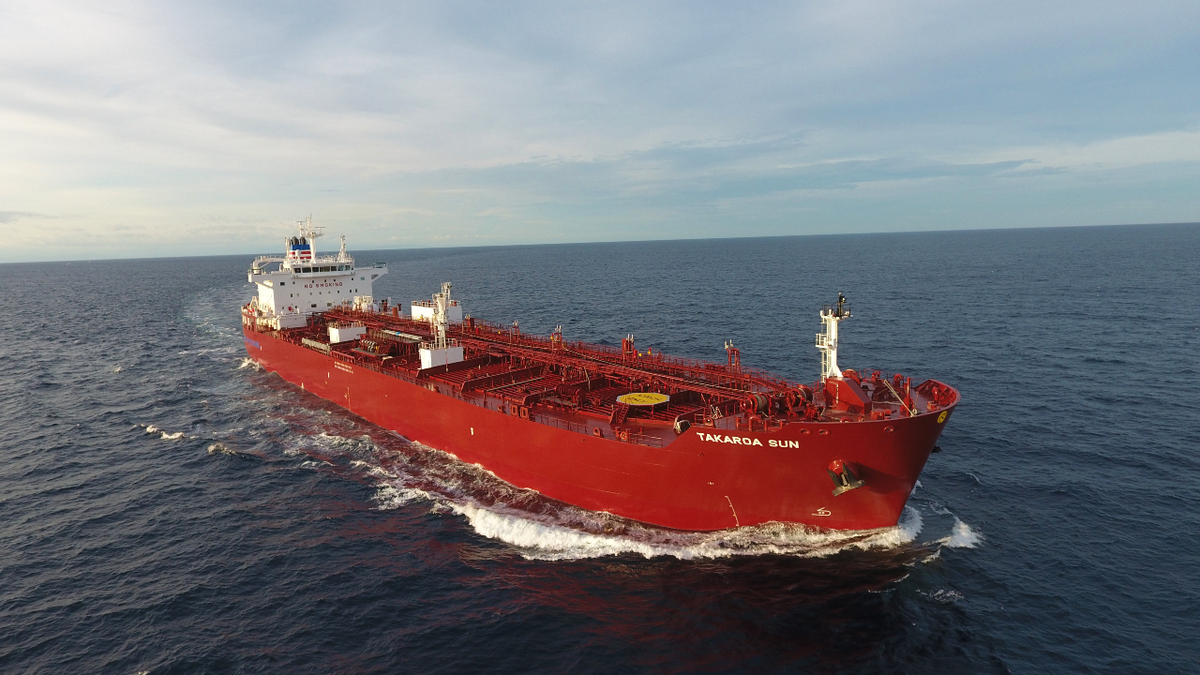 Methanol-fuelled tanker Takaroa Sun has been operating since 2019 (source: NYK Line)