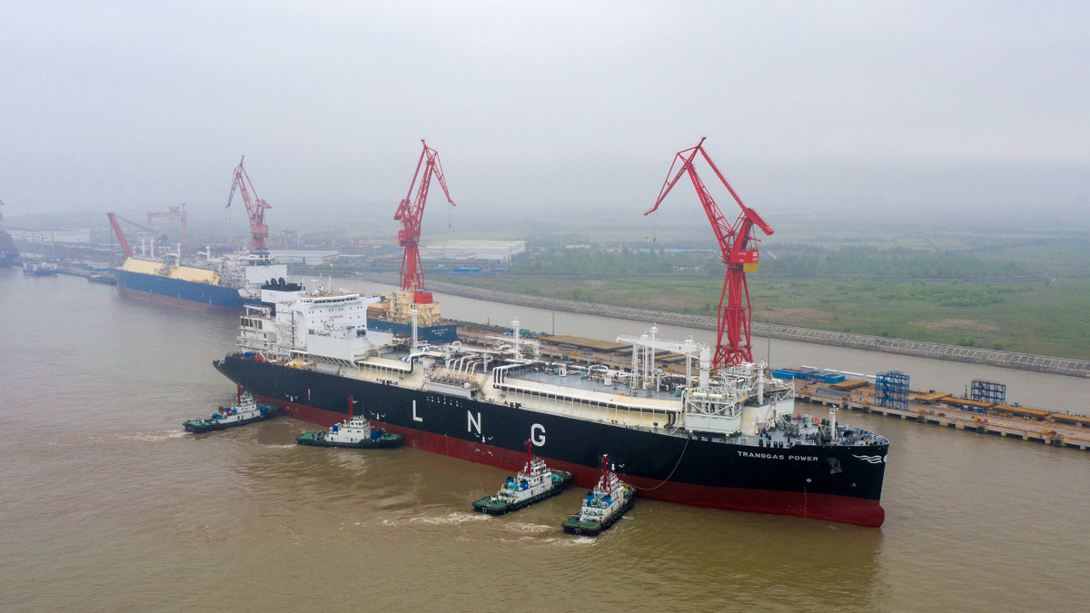 The first newbuild FSRU built in China, Transgas Power, completed gas trials in May (source: Hudong-Zhonghua)