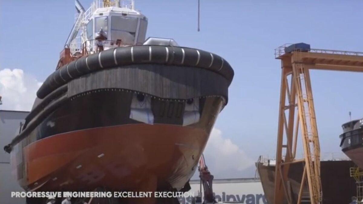 Uzmar launches Hermes harbour tug for Port of Aarhus