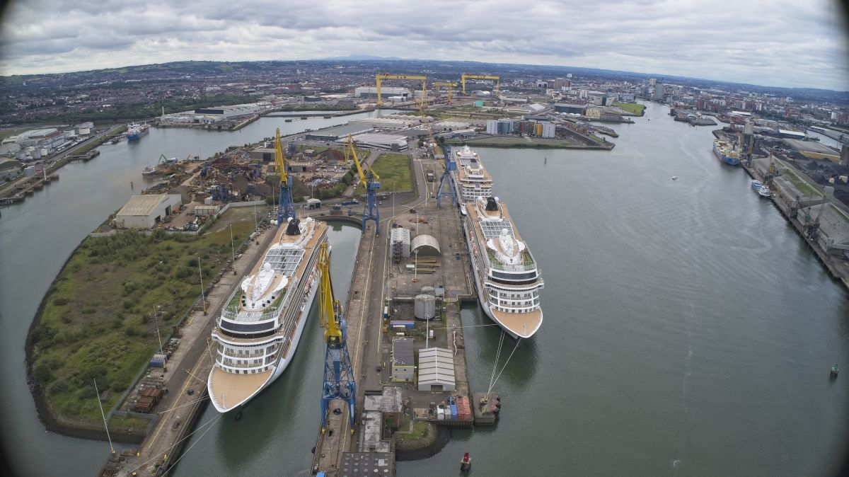 Harland & Wolff is aiming to boost its presence in the cruise refit sector and is to broaden its ferry work (source: Harland & Wolff)