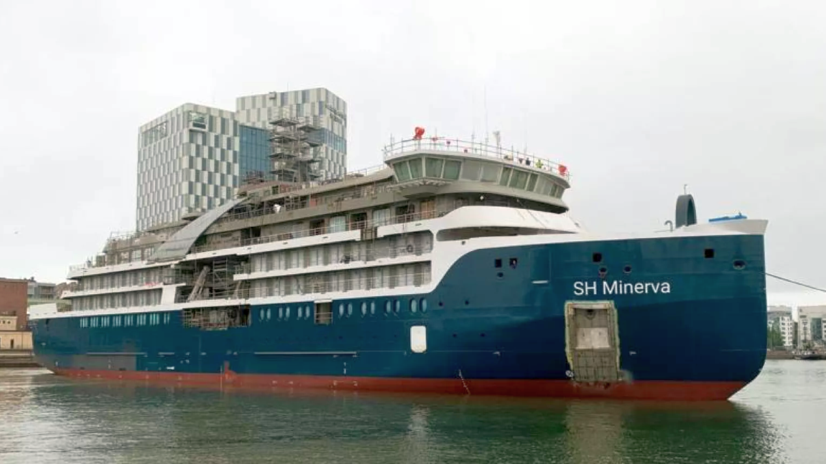 Swan Hellenic has floated out two of its new cruise ships and cut steel on a third (source: Swan Hellenic)