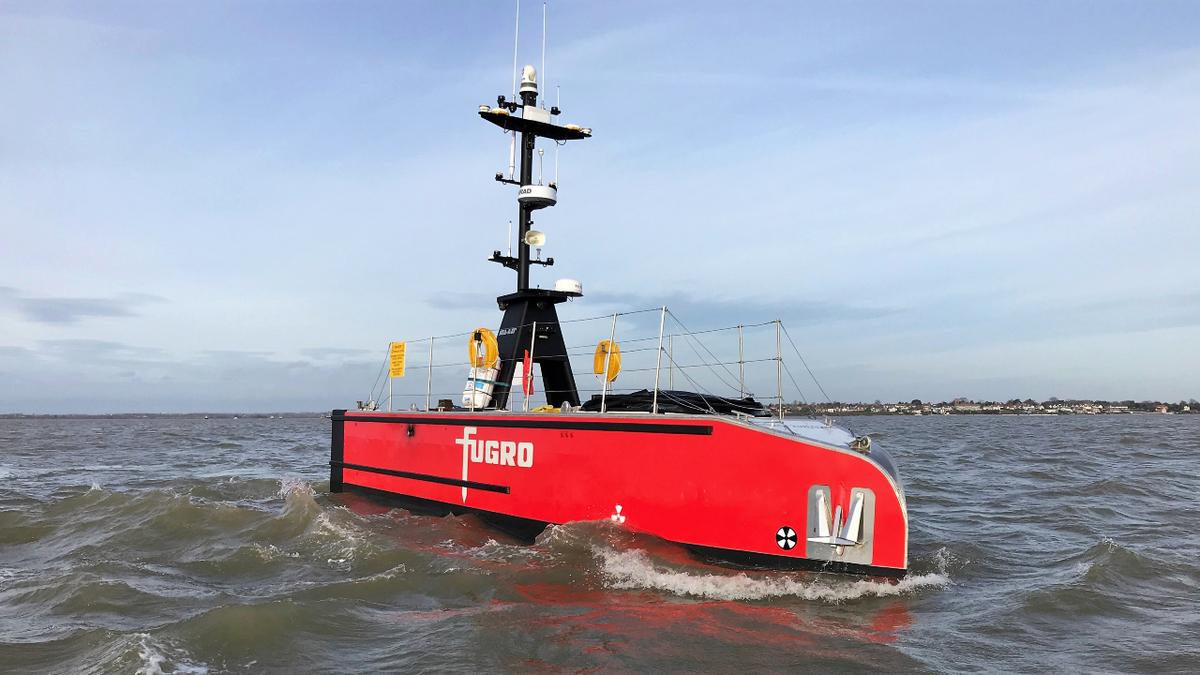 One of two 12m SEa-Kit X-class USVs built for Fugro (source: SEa-Kit International)