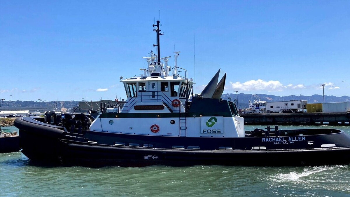 Foss Maritime's new ASD-90 tug Rachael Allen (source: Nichols Brothers Boat Builders)