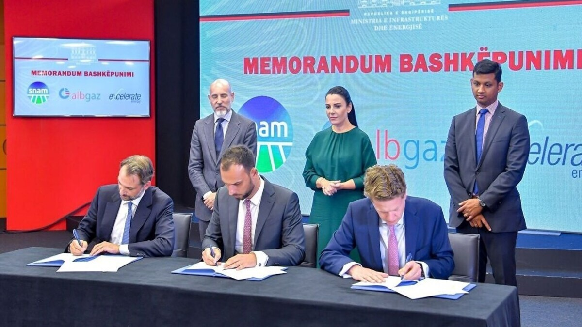 Albgaz signs MoU with Excelerate and Snam, to pursue new pipeline