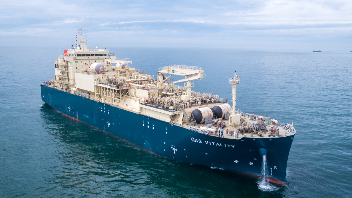 The 18,600-m3 LNG bunker vessel Gas Vitality will be deployed by Total in the Port of Marseilles (source: Hudong-Zhonghua)