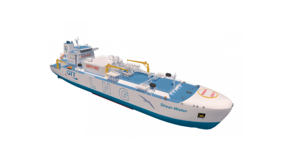 Ballast-free LNG bunker vessel design would lower capex and opex costs, says GTT (source: GTT)
