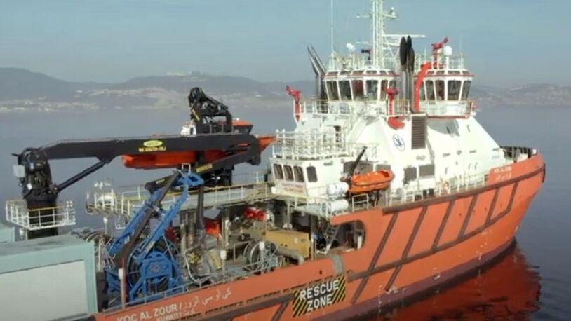 Newbuild emergency response vessel en route to Middle East