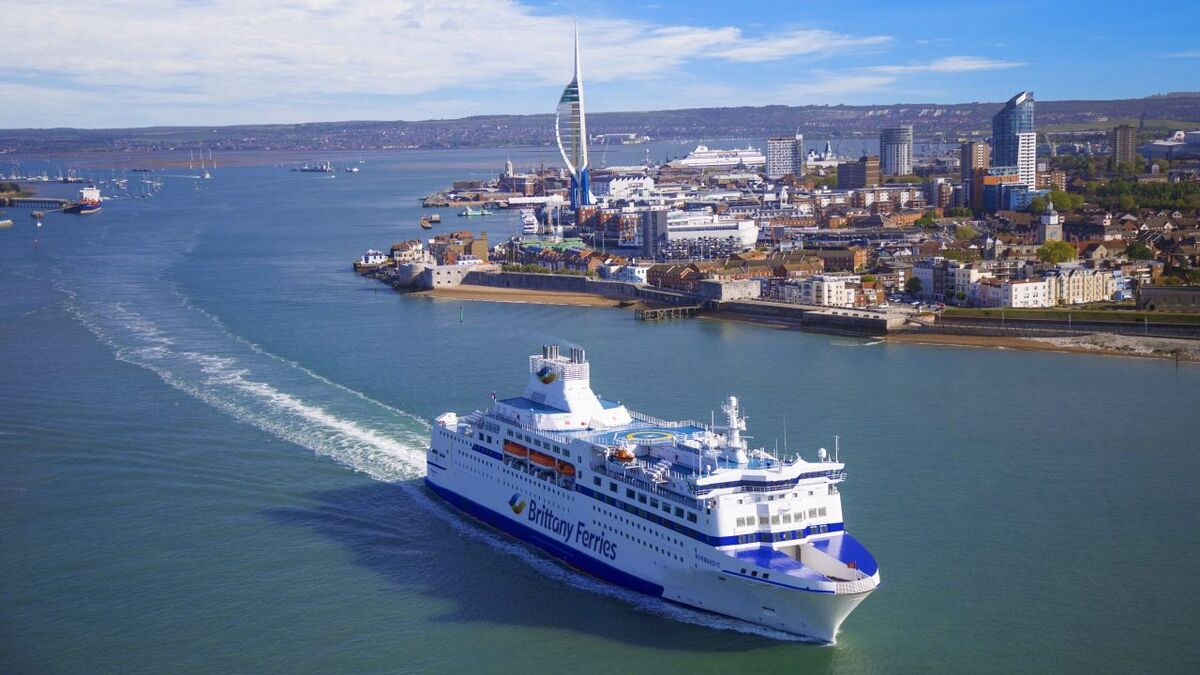 Brittany Ferries' Normandie ferry (pictured) is being replaced by a hybrid ferry (source: Brittany Ferries)