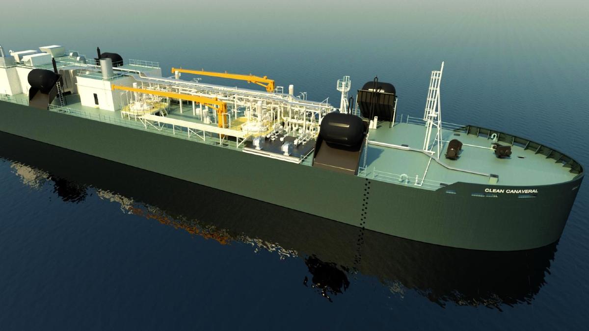 Fincantieri Bay Shipbuilding is constructing Clean Canaveral, part of a 5,500-m3 LNG ATB (source: Fincantieri)