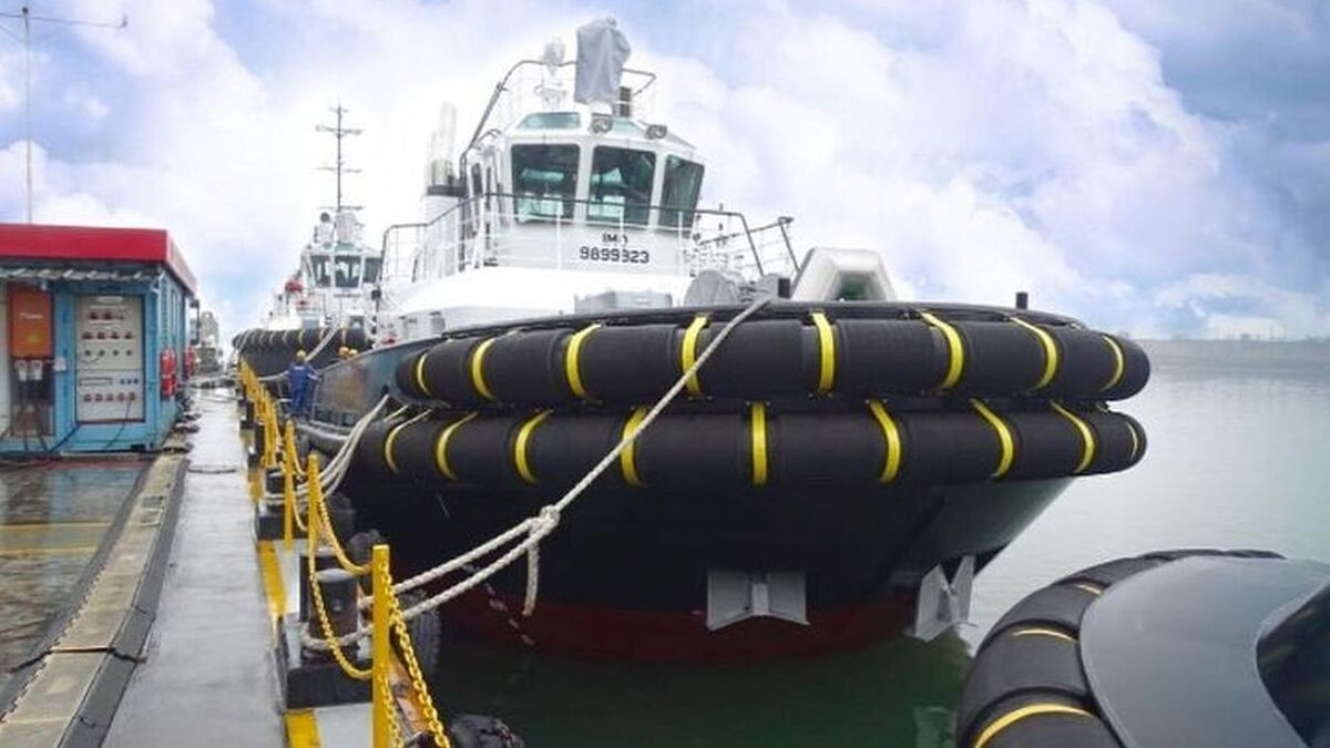 Nakhodka Commercial Sea Port deployed tug Geliy built by Damen (source: Nakhodka)