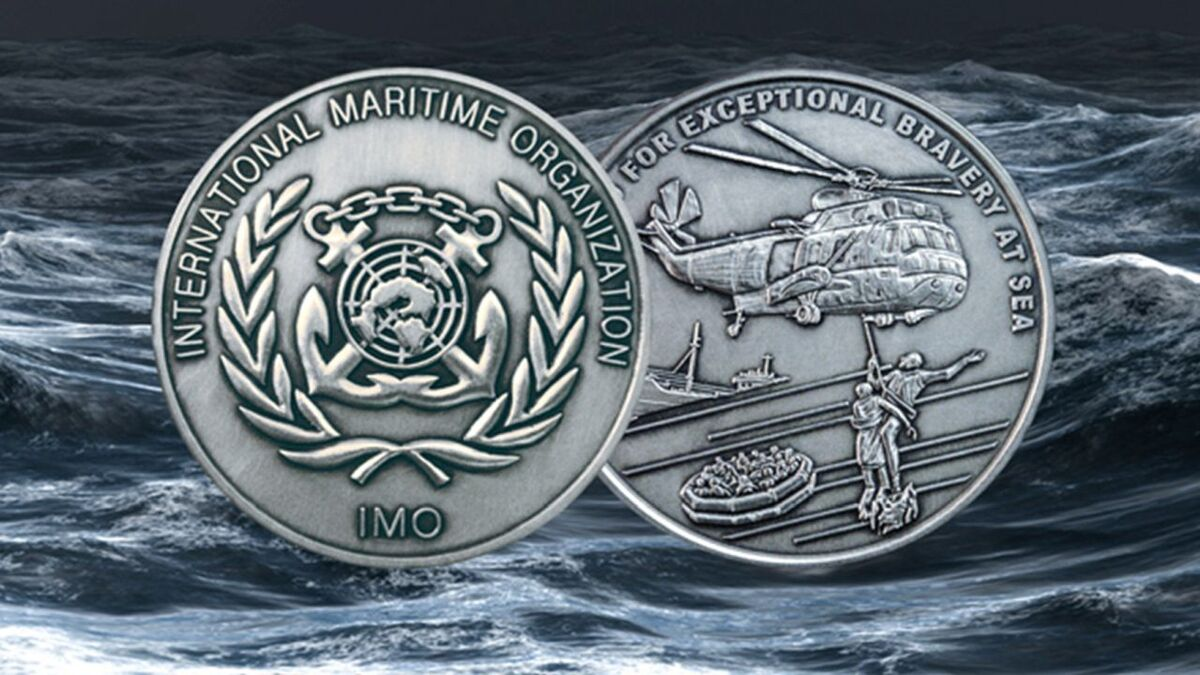IMO award for exceptional bravery at sea (source: IMO)