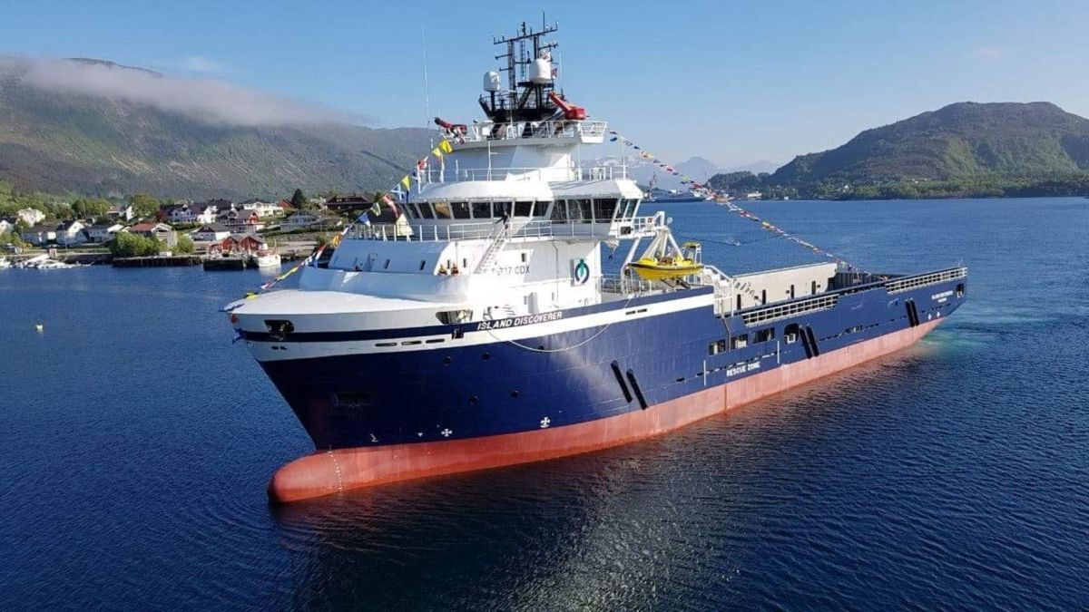 Ordered in 2014, Island Discoverer was delayed until market conditions improved (source: Island Offshore/Anne Lise Osnes)