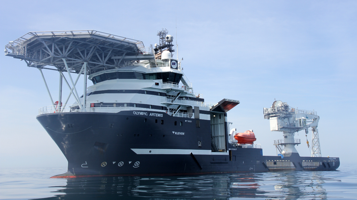 Olympic Artemis will be the first in Olympic Subsea's fleet to be upgraded with the decision support solution (source: James Fisher)