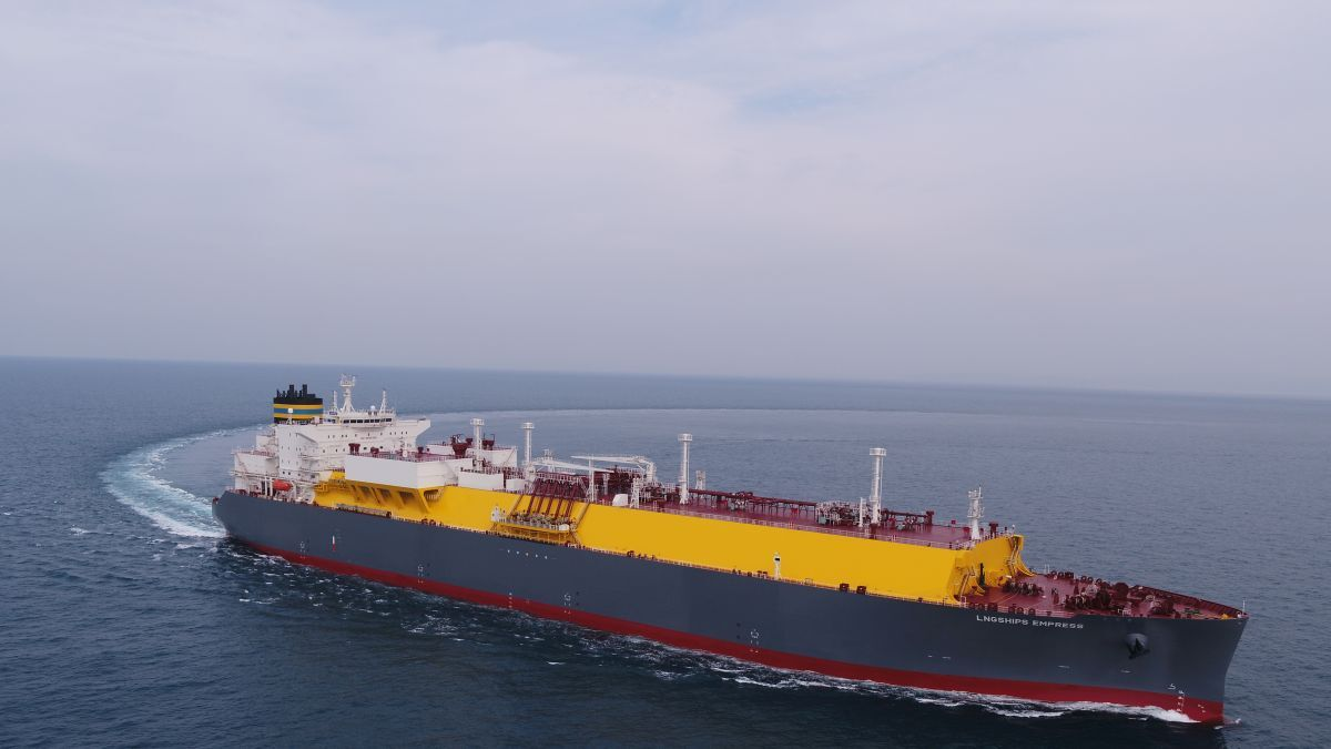 LNGShips Empress is future-proof-optimised to comply with environmental requirements for the reduction of GHG emissions (source: TMS Cardiff Gas)