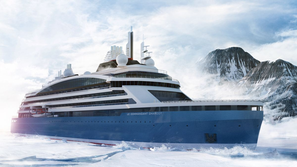 Bureau Veritas has classed the Ponant ice breaker, which is unique cruise ship as it uses both LNG and batteries (source: Ponant/Stirling Design International)