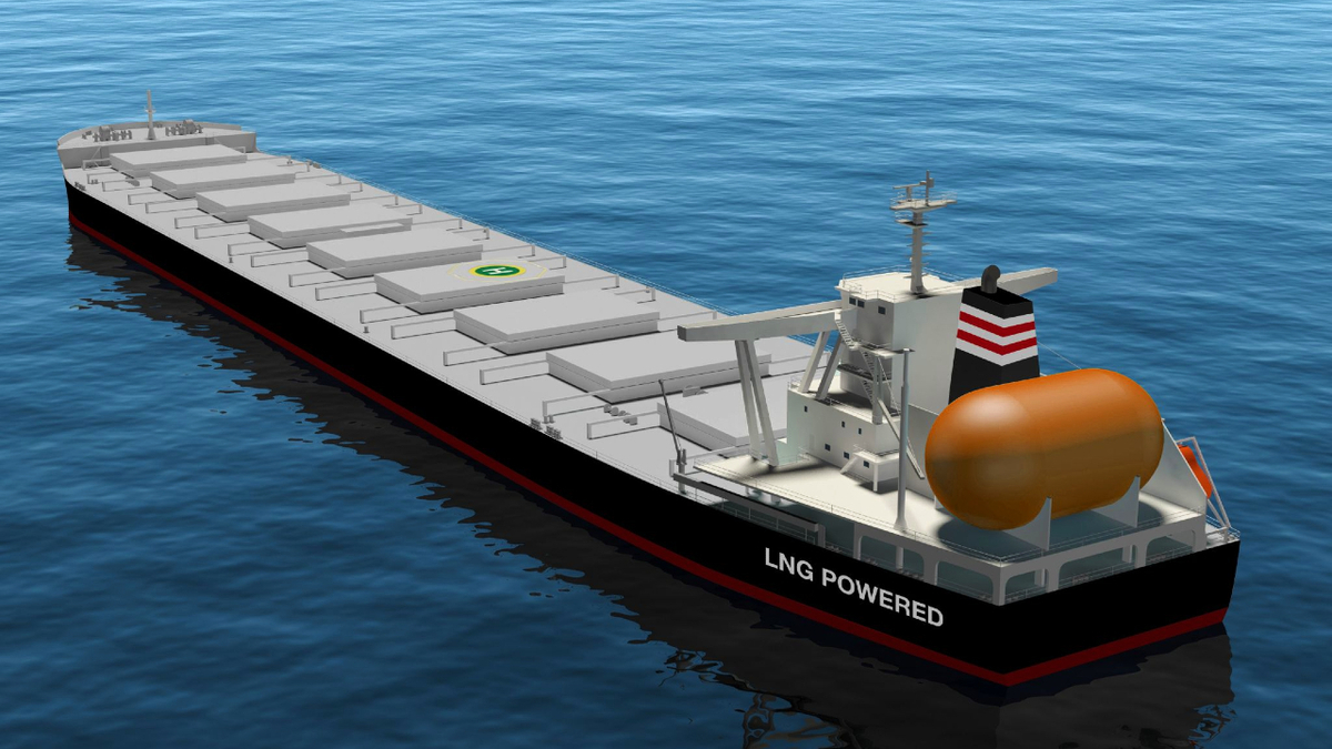 JFE Steel is chartering three LNG-fuelled capesize bulk carrier newbuildings (source: NYK Line)