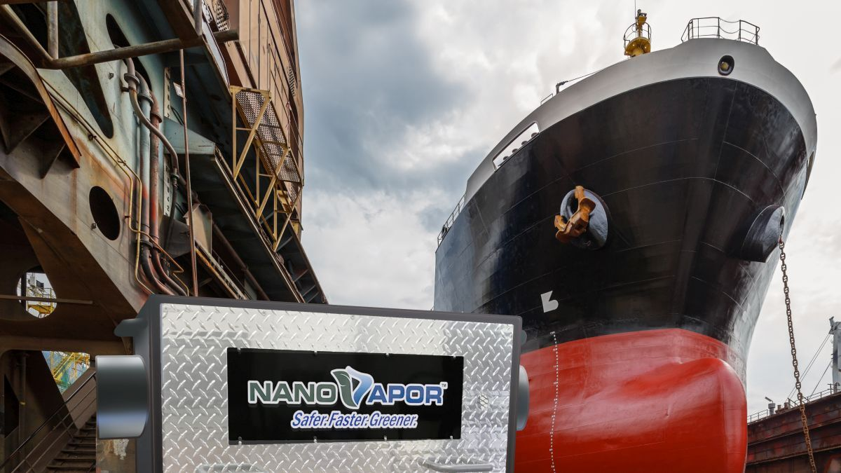 The NanoVapor system reduced vapours from cargo (source: Ecochlor)