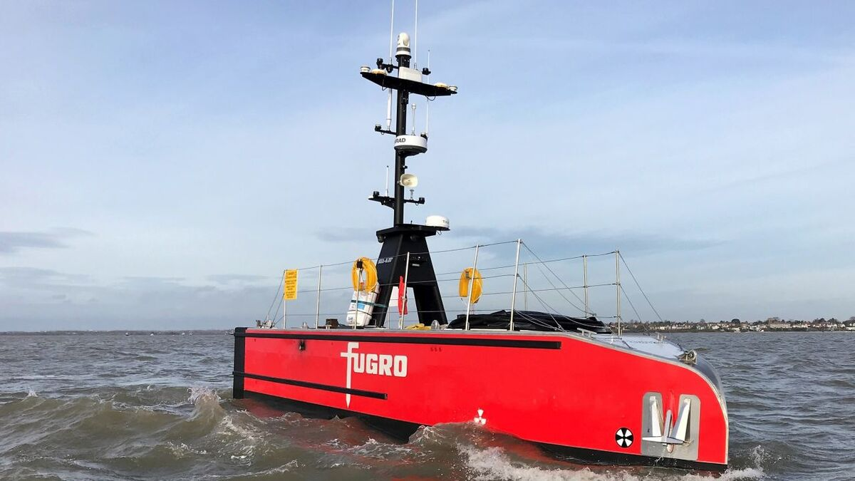 SEA-KIT's 12-m X-class USV for Fugro was awarded UMS certification at the end of June 2021