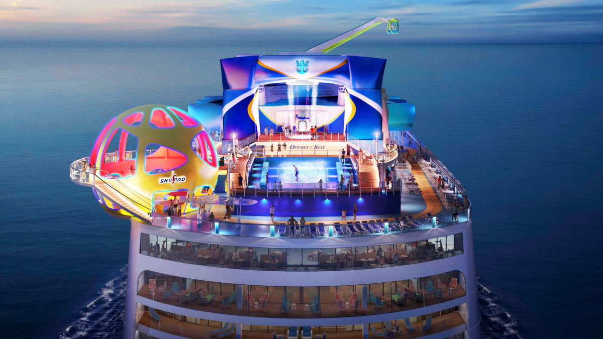 Royal Carribean is planning for nine more ships to return through August including its new vessel Odyssey of the Seas in Fort Lauderdale (source: Royal Caribbean)