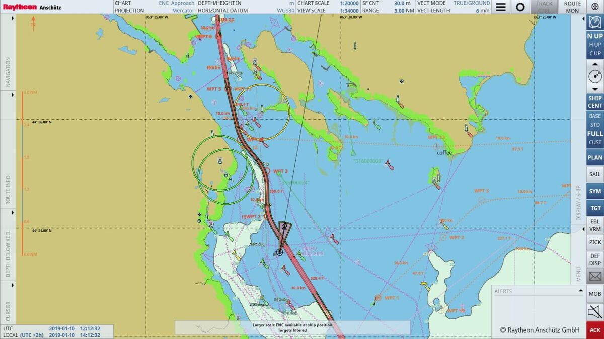 Raytheon ECDIS NX new features aid search and rescue operations (source: Raytheon)