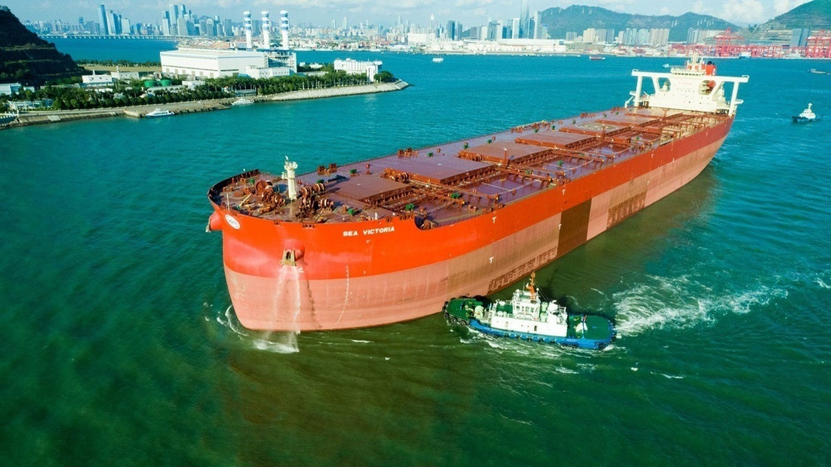 Sea Victoria will be the first ore carrier in the world to use air-lubrication technology (source: Vale)