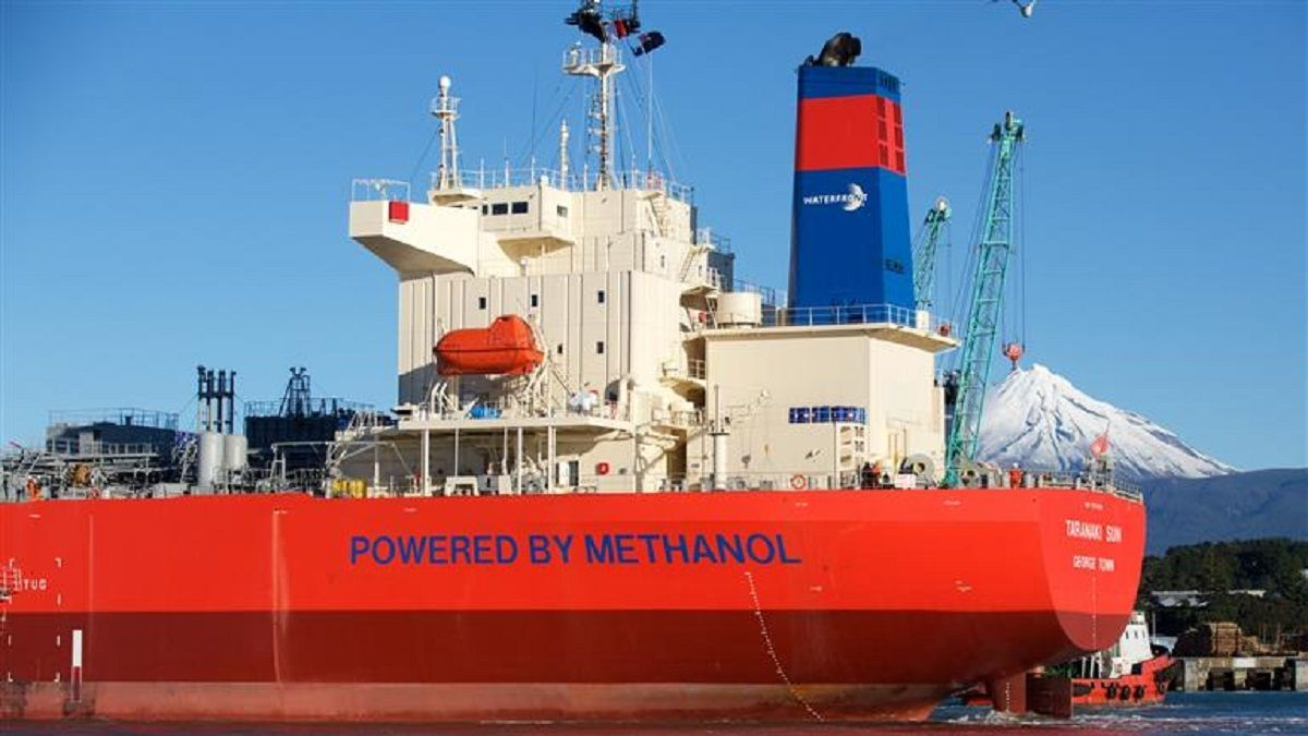 Taranaki Sun, one of the seven methanol-fuelled tankers from the 2016 partnership (source: MOL)