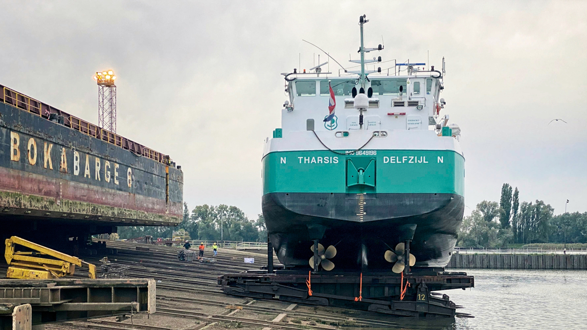 Tharsis was fitted with an MPS air lubrication system during a pilot project in 2020 (source: Alfa Laval)