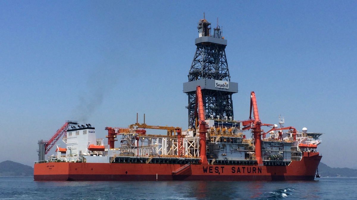 Seadrill has three drill ships under contract in the Americas, including West Saturn (source: Seadrill)