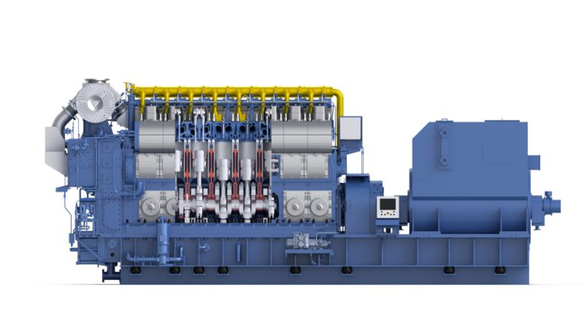 Maersk's methanol-fuelled container ship will be fitted with two HiMSEN H32DF-LM gensets (source: HiMSEN)
