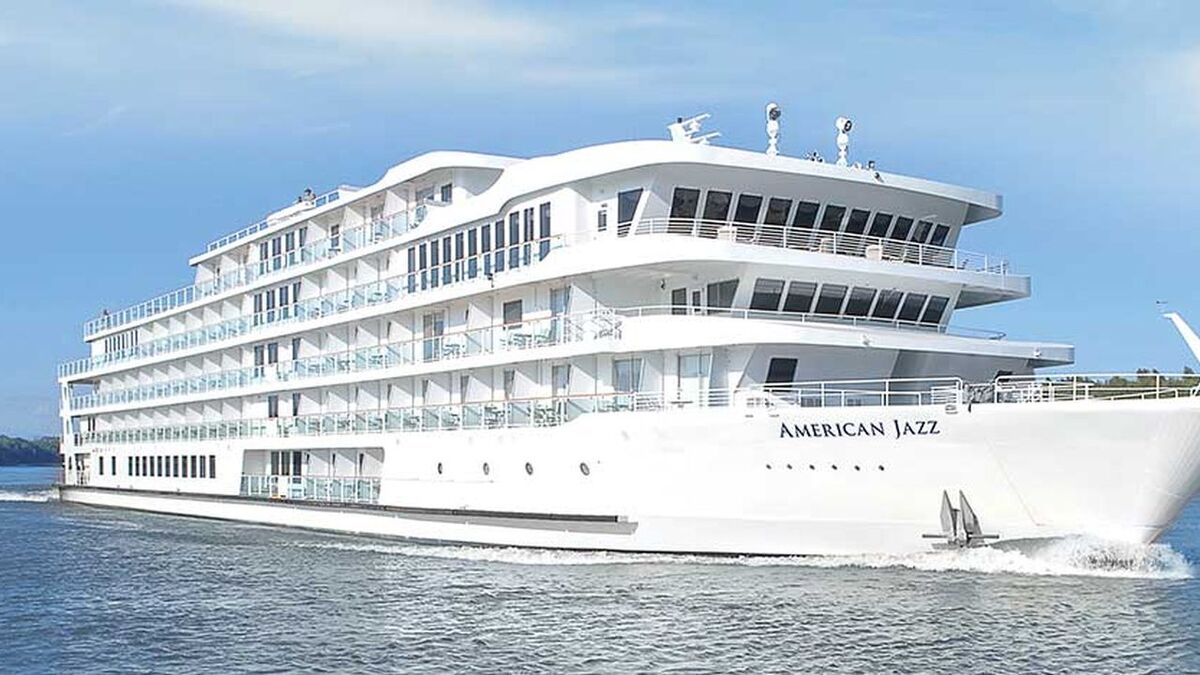 Cruise vessel American Jazz grounded near Canton Kentucky, came into service March 2021 (source: ACL)