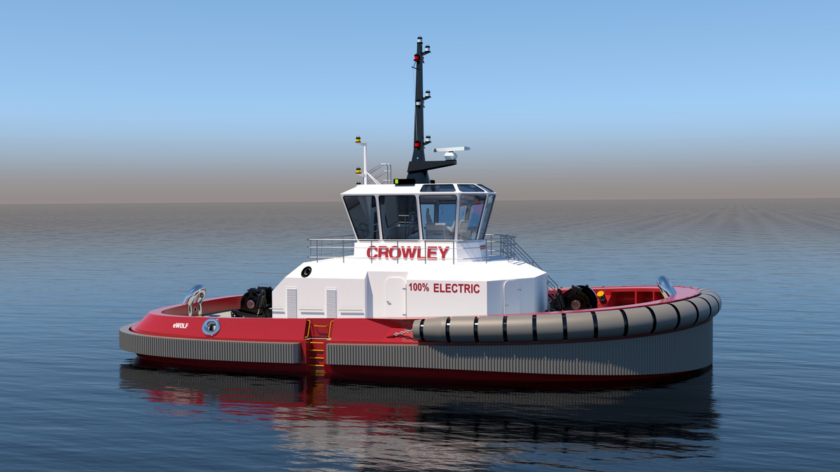 eWolf will reduce CO2 emissions by over 300 tonnes per year compared with the diesel-powered tug it is replacing (source: Crowley Maritime)