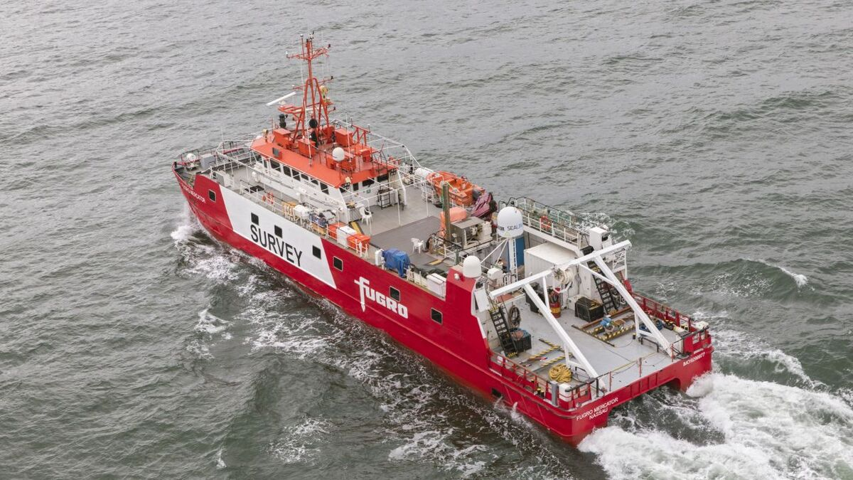 Fugro will assign three dedicated vessels to map the characteristics of the area and assess the conditions around the windfarm (source: Fugro)