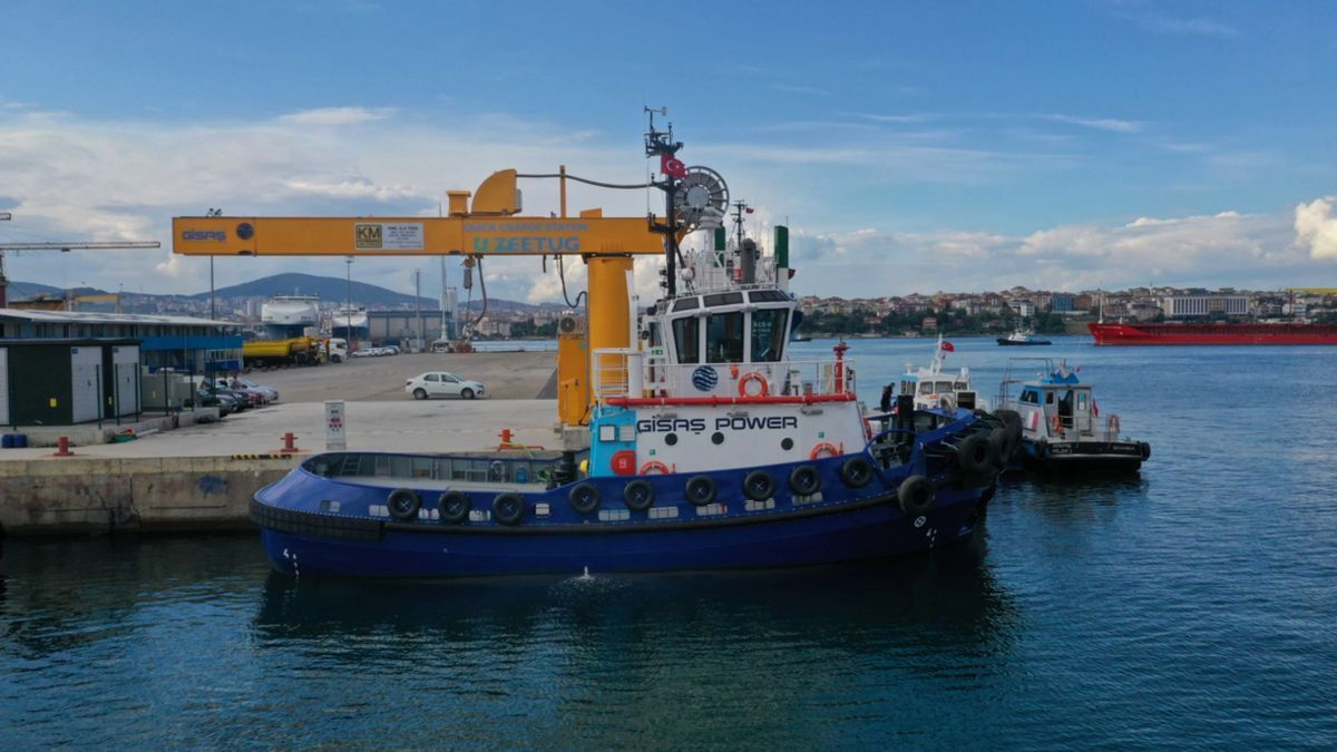 Gisas Power at its charging station in a Turkish port (source: Navtek)