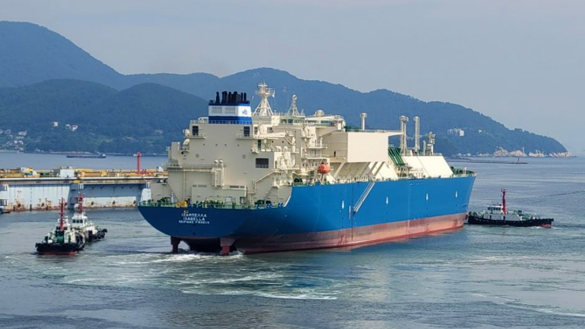 Besides the recently delivered Isabella, Maran Gas has eight other LNG carriers on order (source: Angelicoussis Group)