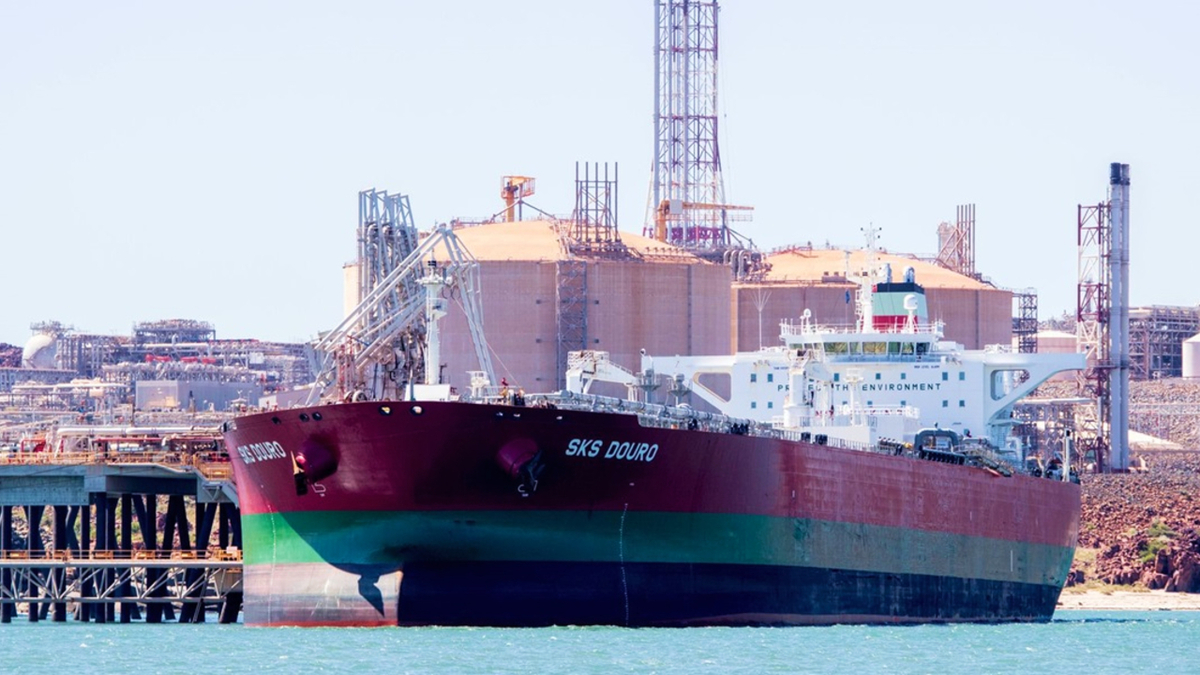 2010-built tanker SKS Douro transported the first carbon-offset condensate cargo for Trafigura (source: Woodside)