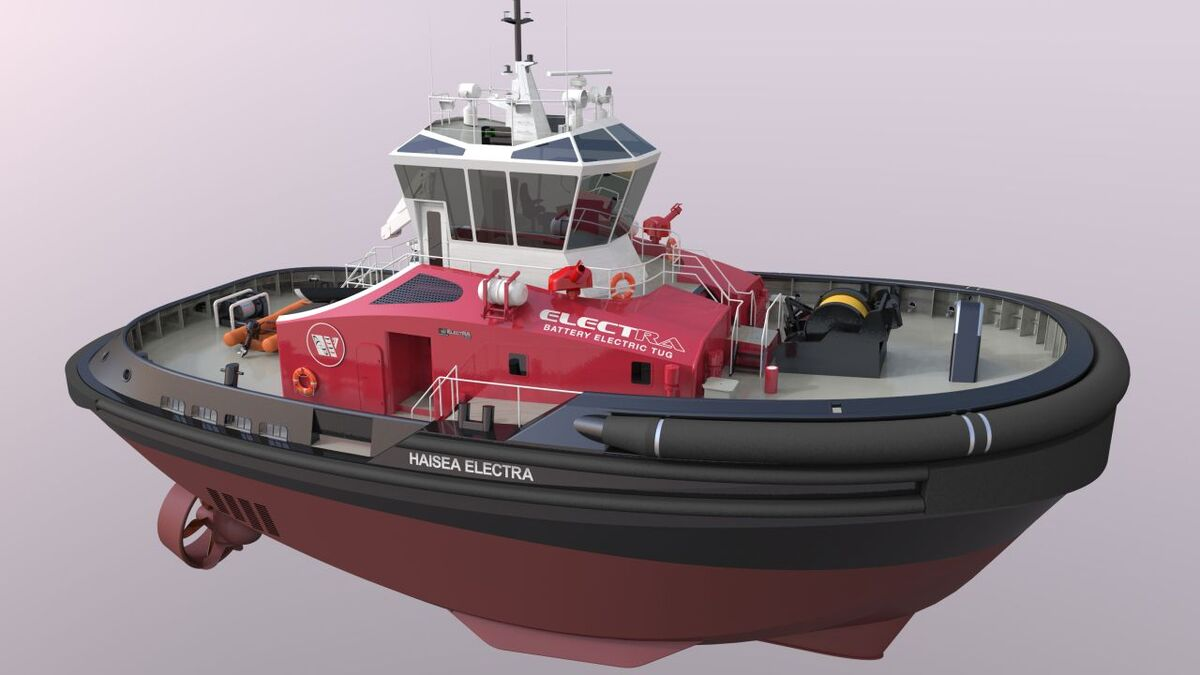 Schottel SRP propulsion on a HaiSea ElectRA tug (source: RAL)