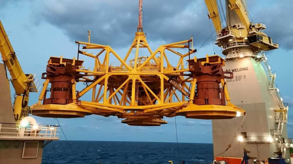 Van Oord has twice experienced problems with the drilling template it is using on the Saint-Brieuc project (source: Ailes Marines)