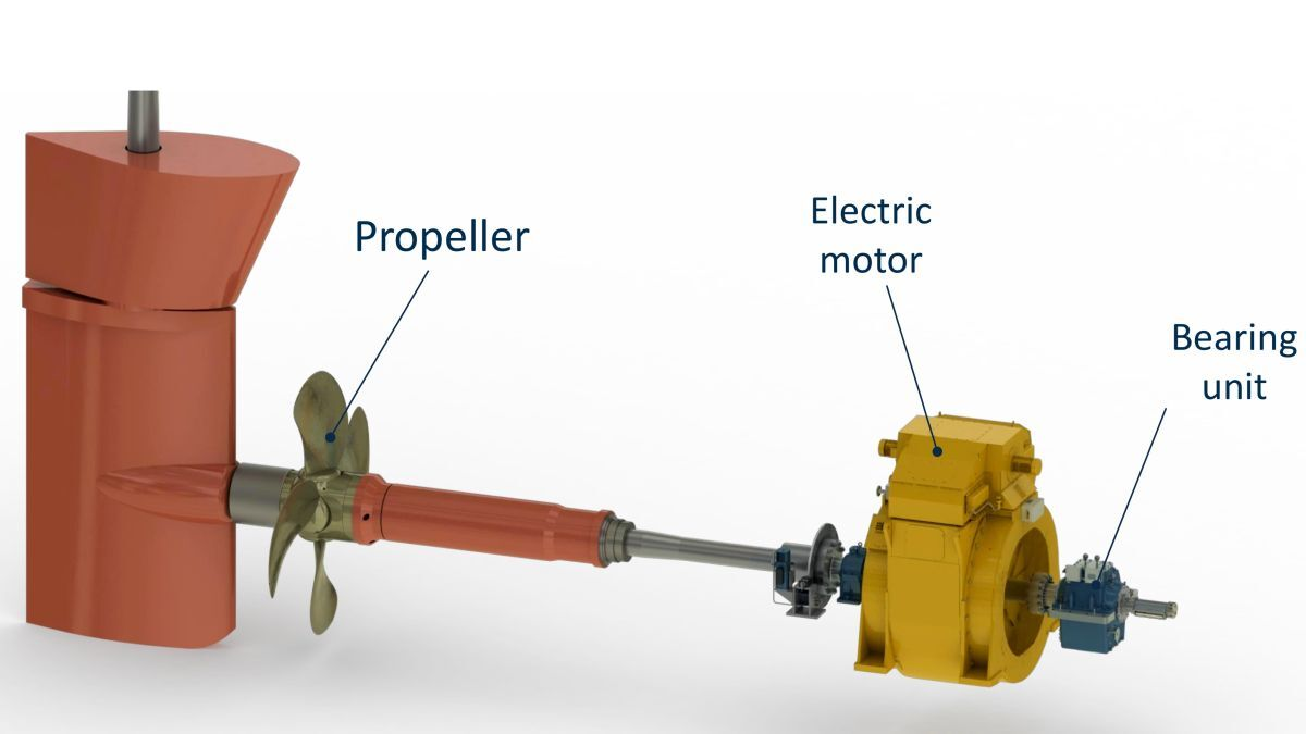 Berg's new electric direct drive propulsion system reduces the number of components, minimising energy losses (source: Berg)