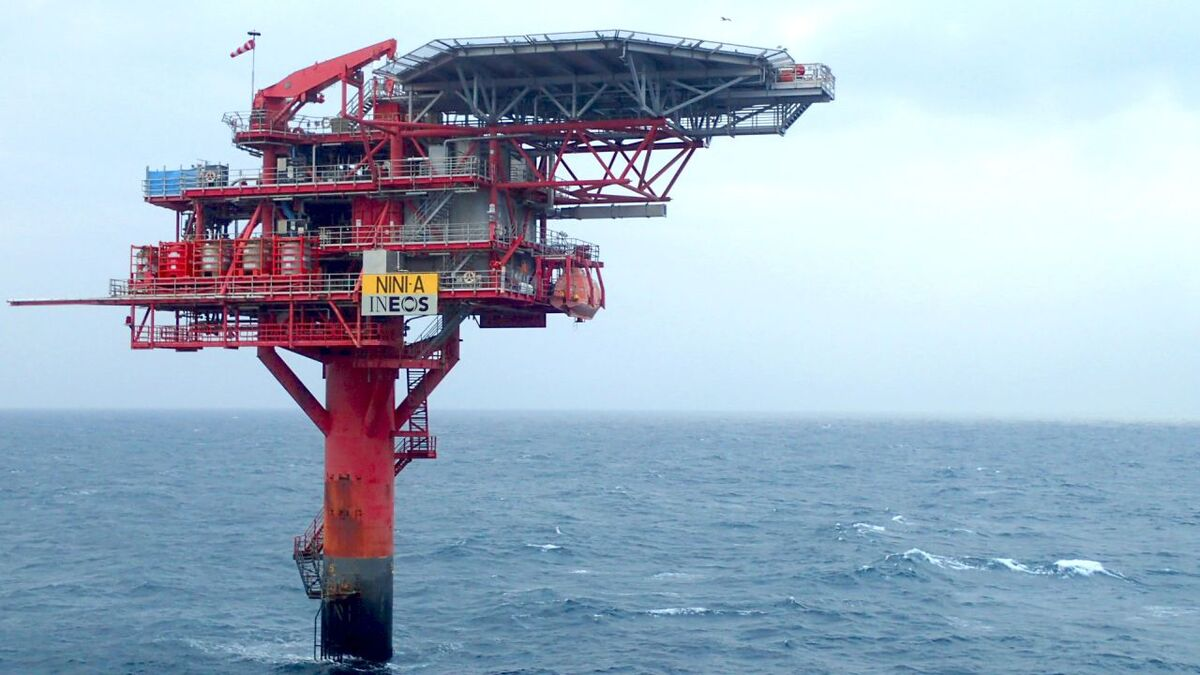 Ineos Nini A wellhead platform could be used for Danish CO2 storage pilot (source: Ineos)