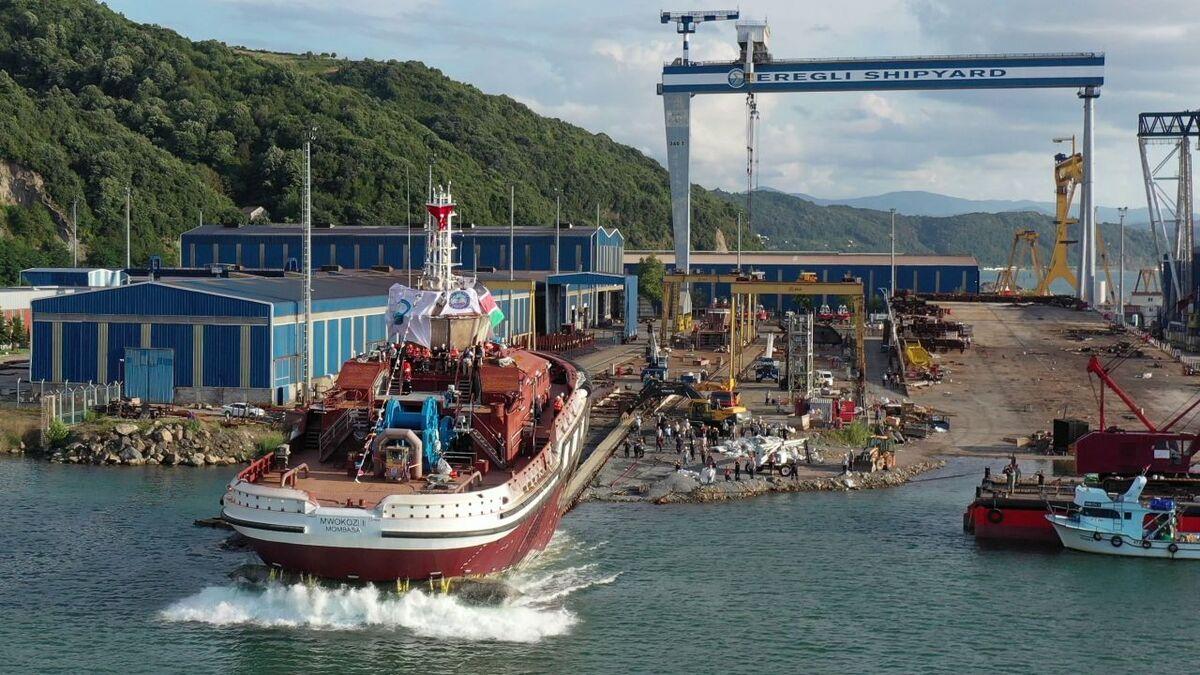Med Marine launched Ereğli 94 tug for Kenya Ports Authority (source: Med Marine)