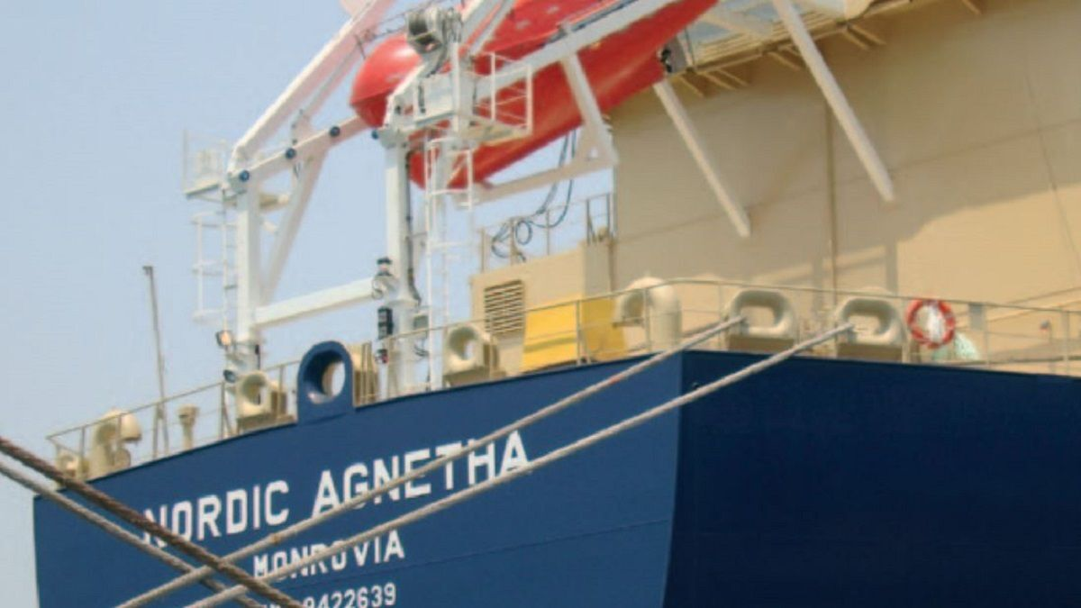 Nordic Agnetha, one of the three tankers remaining in the fleet (source: Nordic Shipholding)