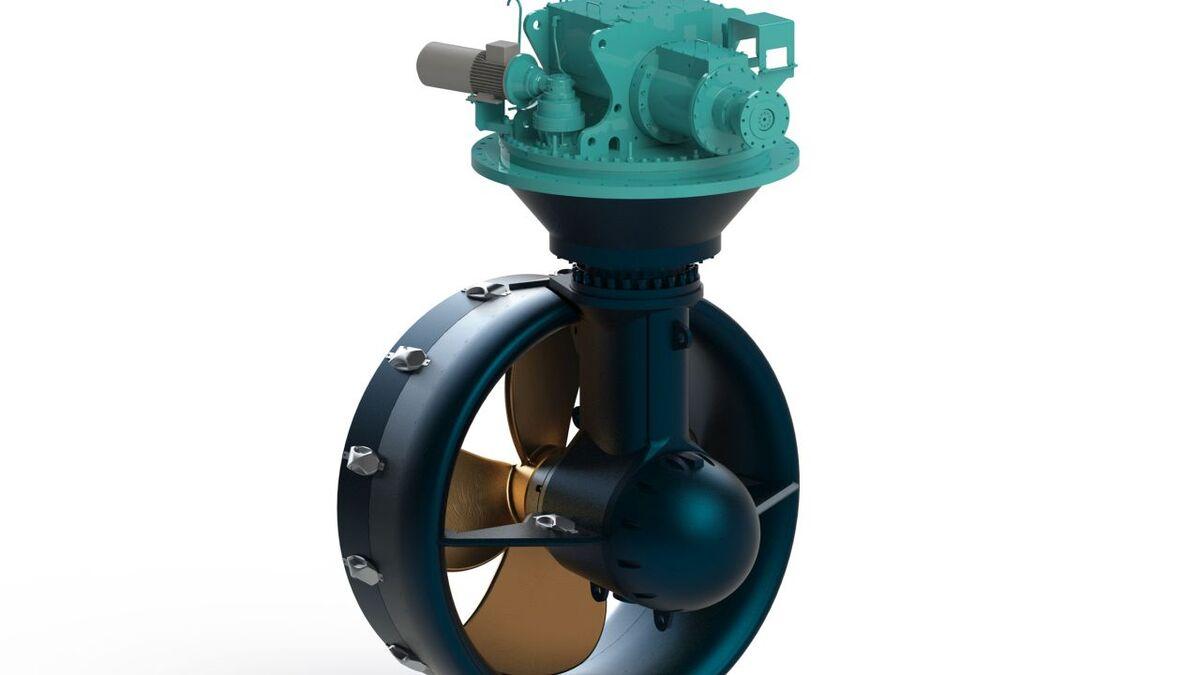 Steerprop SP 20 WD azimuth propulsion unit is built for Uzmar RAmparts tugs (source: Steerprop)