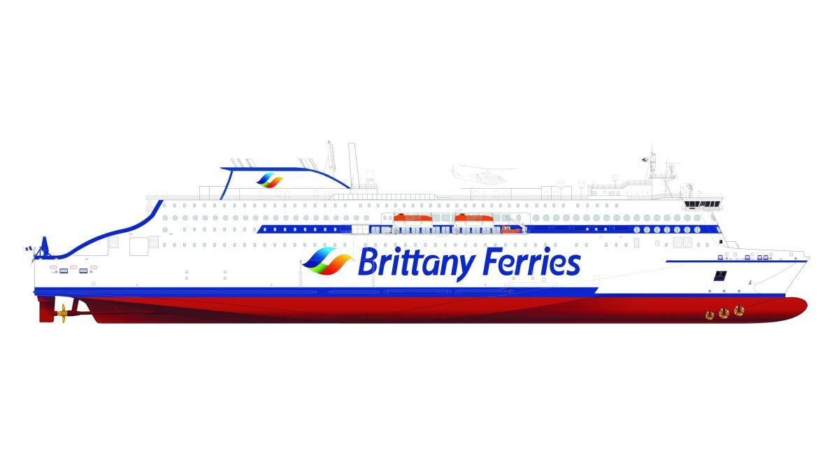 Deltamarin has signed design contracts for Stena E-Flexer ferries that will be chartered by Marine Atlantic and Brittany Ferries (source: Deltamarin)