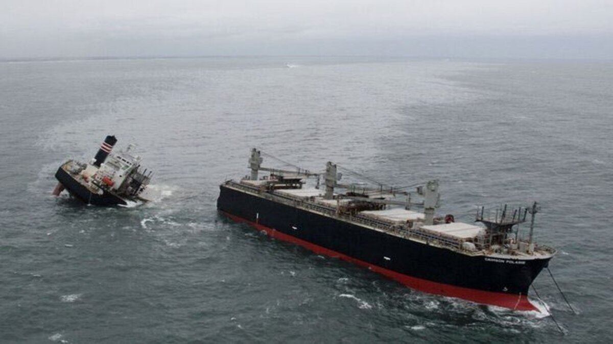Oil spill confirmed from bulker grounding in northeast Japan