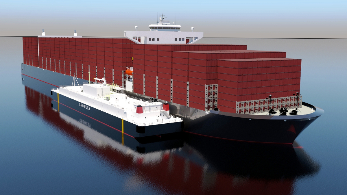 Crowley Maritime's new LNG bunker vessel will have a capacity of 12,000 m3 (source: Crowley Maritime)