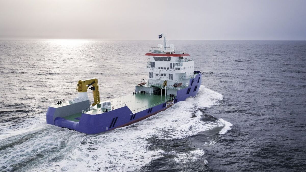 Albwardy Damen launched a Multibuster 8020 vessel with accommodation for 60 people (source: Damen)